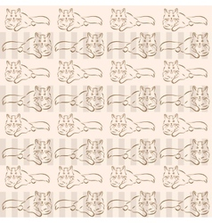 background with cats vector image