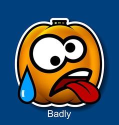 Badly vector image
