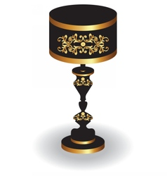 Baroque Elegant lamp vector
