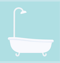 Bath tub in flat style vector