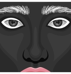 Beauty Woman Face with creative Makeup vector image