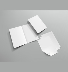 Blank half fold brochure template for your design vector