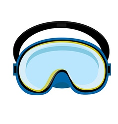 Blue diving mask vector
