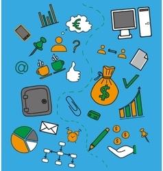 Business doddle elements vector