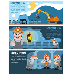 Coal infographics coal mining and transportation vector