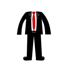 Color silhouette with male clothing elegant suit vector