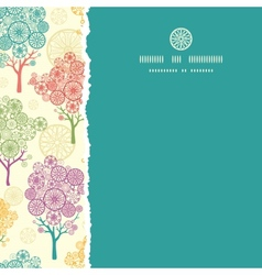 Colorful abstract trees square torn seamless vector