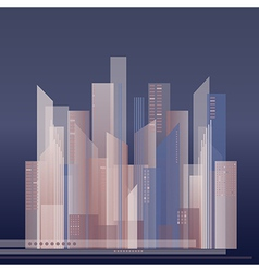 Colorful of abstract city vector
