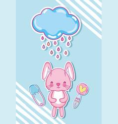 Cute bunny cartoons vector