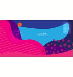 Deep sea abstract background design template vector