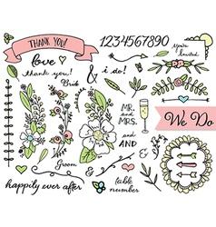 Doodle Wedding Clip Art vector image