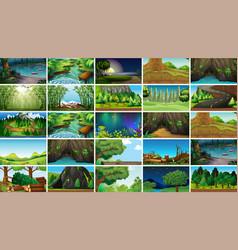 Empty blank landscape nature scenes vector