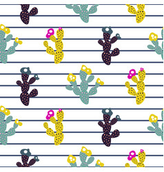 exotic cactus seamless pattern modern print with vector image