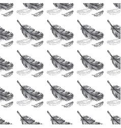 Feathers seamless pattern background vector