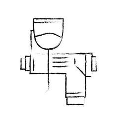 Figure pistol oil injector element to car service vector