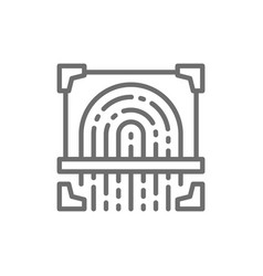 fingerprint scan cryptographic signature vector image