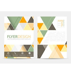 Flyer design with geometric pattern corporate vector