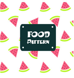 Food pattern watermelon background image vector