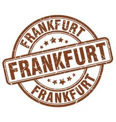 Frankfurt brown grunge round vintage rubber stamp vector