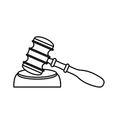 Gavel wooden isolated icon vector