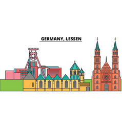 germany lessen city skyline architecture vector image