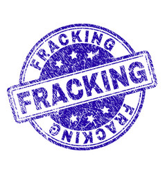 Grunge textured fracking stamp seal vector