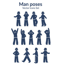 Hand drawn male characters set vector