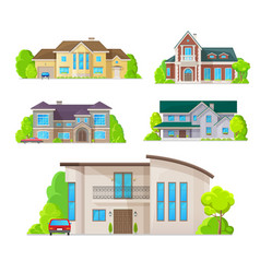 Houses home buildings architecture real estate vector