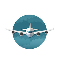icon of airplane vector image
