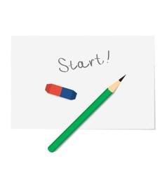 Idea word on paper start idea vector