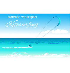 Kitesurfing summer watersport concept vector