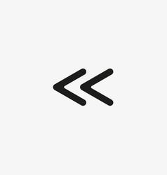 Left arrow icon previous page go back sign vector