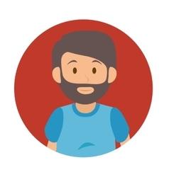 Man tourist avatar character vector
