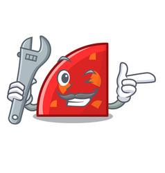 mechanic quadrant mascot cartoon style vector image