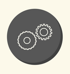 Mechanical gears symbolizing mechanics a circular vector
