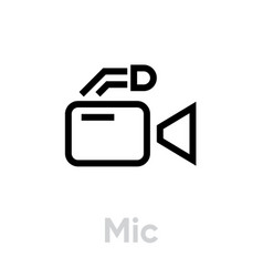 mic flat icon editable outline vector image