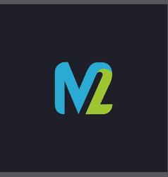 modern m2 logo icon vector image