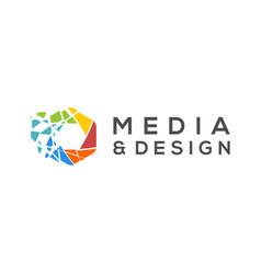 Modern technology logo - internet web and apps vector