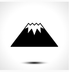 Mountain logo template vector