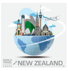 New Zealand Landmark Global Travel And Journey vector image