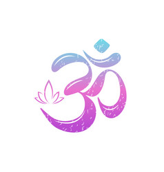 om colored text vector image