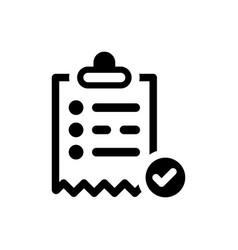 Order list icon vector