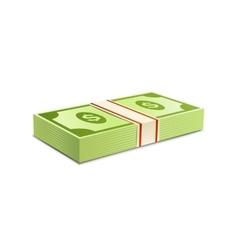 Packs-dollars-money vector