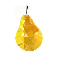 pear low poly isolated on a white vector image