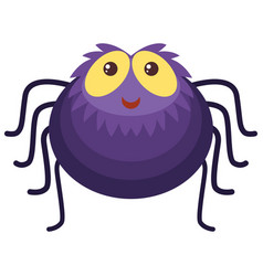 Purple spider with happy face vector