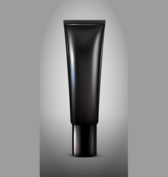 realistic black cosmetic tube concept vector image