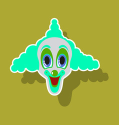 realistic paper sticker on theme humor cheerful vector image