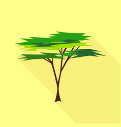 Savanna tree icon flat style vector
