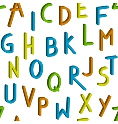 Seamless childrens bright alphabet pattern vector image