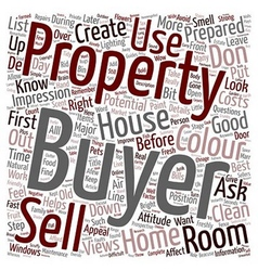 Sell a house in the first 60 seconds text vector image